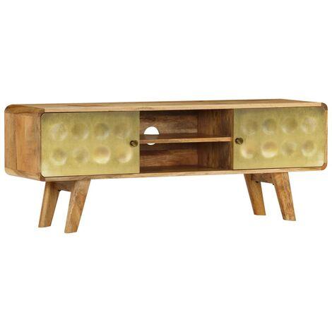 meuble tv bois de manguier massif 120 x 30 x 45 cm