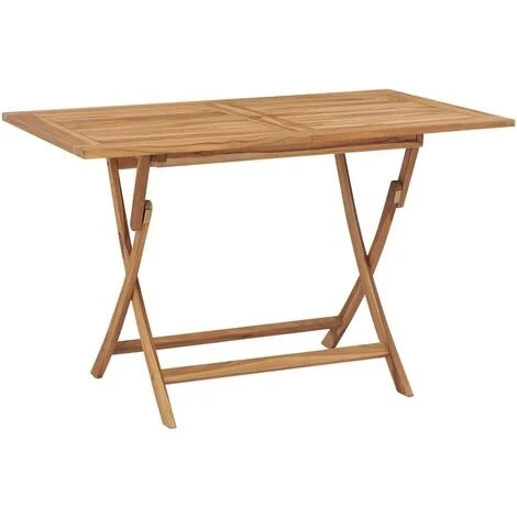 table pliable de jardin 120x70x75 cm bois de teck solide
