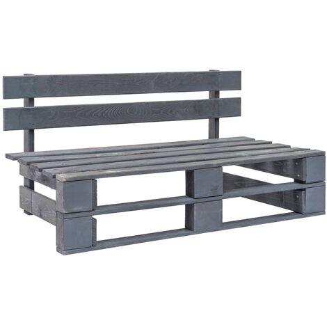 banc palette de jardin bois gris