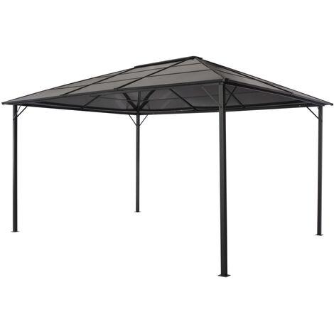 tonnelle avec toit aluminium 4x3x2 6 m noir