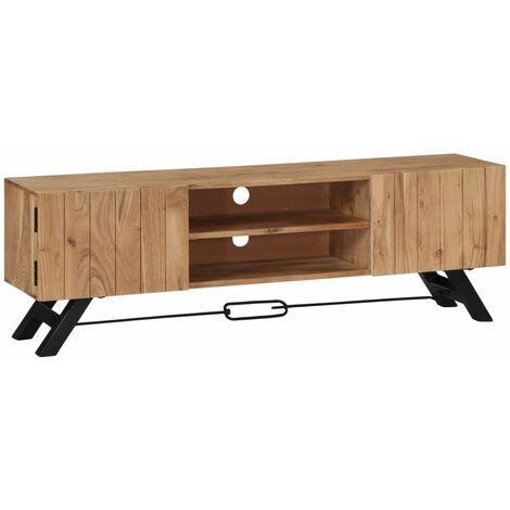 meuble tv 140 x 30 x 45 cm bois d acacia massif