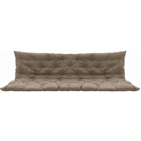 coussin pour balancelle taupe 180 cm tissu