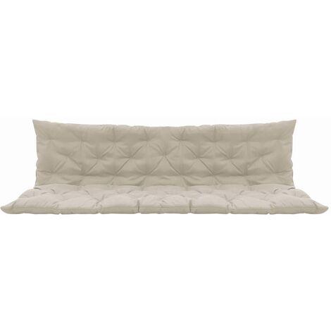 coussin pour balancelle creme 200 cm tissu