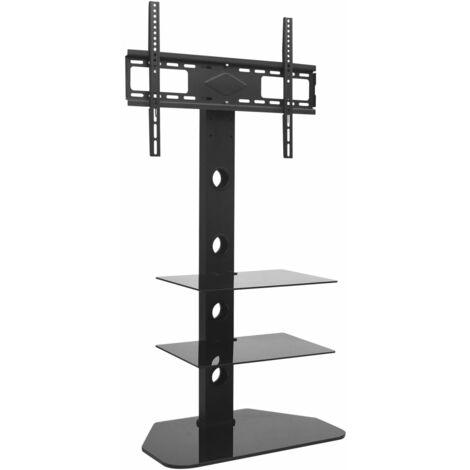 vidaxl support pivotant de plancher pour tv 32 70 avec 2 etageres