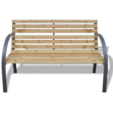 banc de jardin 120 cm bois et fer