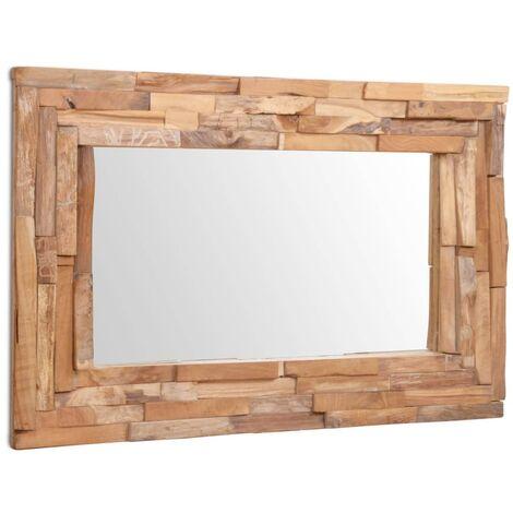 miroir 60 x 120 cm bois de chene massif