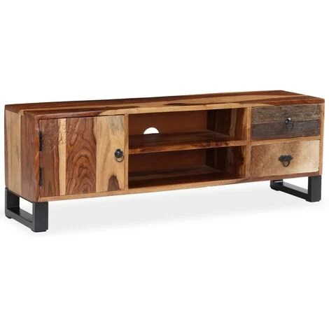 meuble tv bois massif de sesham 120 x 30 x 40 cm