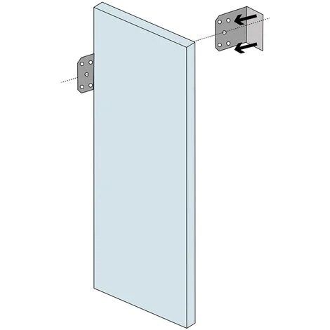 accessoire douche a l italienne ancrages muraux pour panneaux a carreler 2