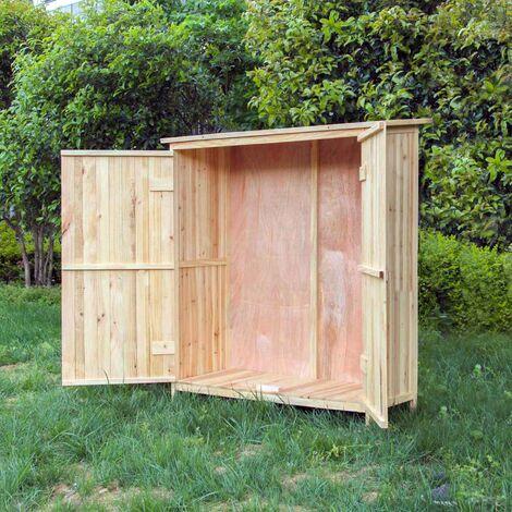 armoire de jardin bois double porte rangement outils remise abri cabane remise jardinage quipement