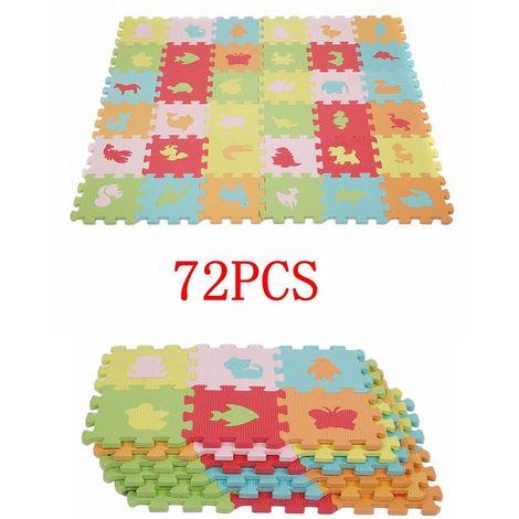 72 eva puzzle tapis de jeu enfants apprentissage tapis de sol jouer jouet animaux tapis top qualite
