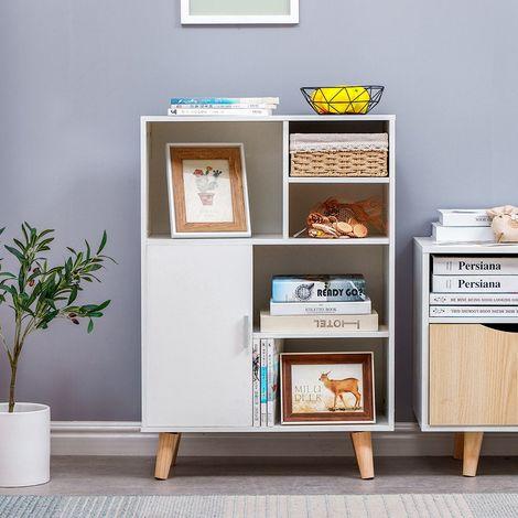 meubles de rangement blanc meubles scandinave en bois bibliotheque etagere rangement pour salon bureau chambre