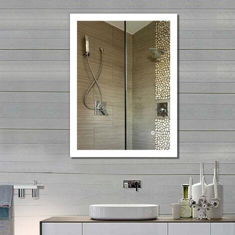 Chauffage Miroir Avec Element Chauffant Par Cable 38 W 420 X 500 Mm Am204310