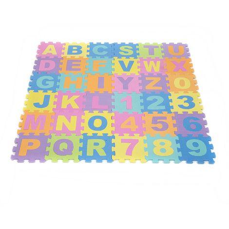 puzzle tapis de sol numero abc alphabet etude enfant letters jouet 16 16cm
