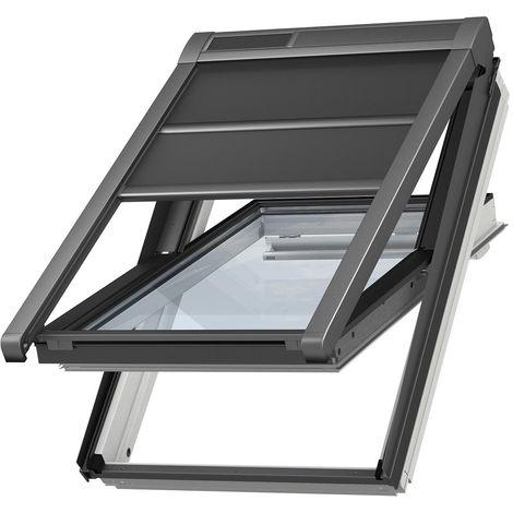 volet roulant souple exterieur a energie solaire velux original pour fenetres de toit velux c01 ck01 noir