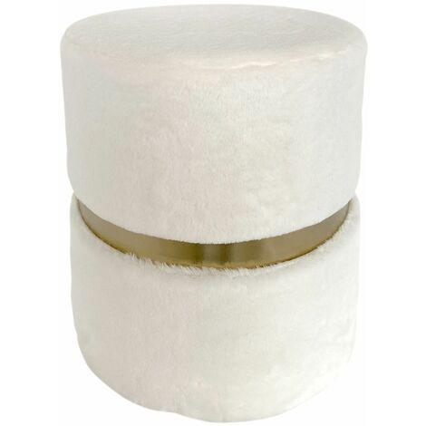 coffre pouf pliable imitation fourrure