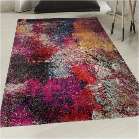 un amour de tapis petit tapis entree interieur tapis moderne pour salon design abstrait multicolore 40x60 cm