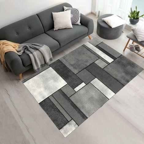 40x60 un amour de tapis petit tapis d entree interieur tapis salon moderne design contemporian geometrique poils ras tapis entree gris