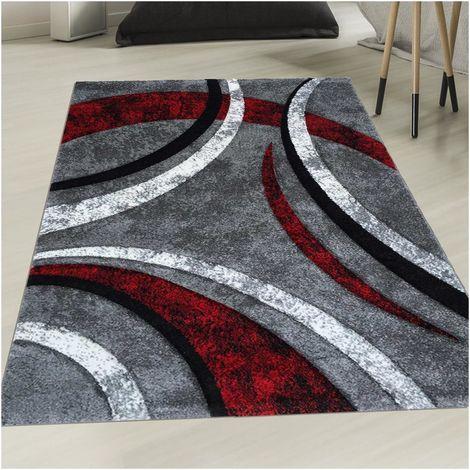 60x110 un amour de tapis tapis salon moderne design poils ras rectangulaire petit tapis d entree interieur tapis entree rouge gris noir