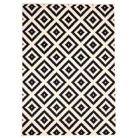 60x110 un amour de tapis petit tapis entree interieur tapis salon moderne design scandinave berbere geometrique tapis noir creme