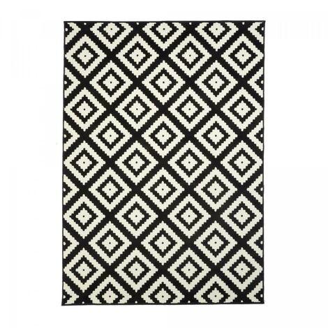 235x320 un amour de tapis af roma grand tapis moderne design tapis salon et salle a manger noir creme couleurs et tailles disponibles