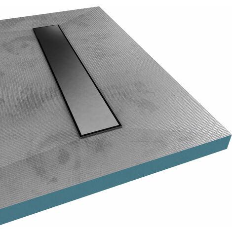 receveur de douche a carreler 80x120cm recoupable sur mesure avec bonde caniveau rainy linear 120