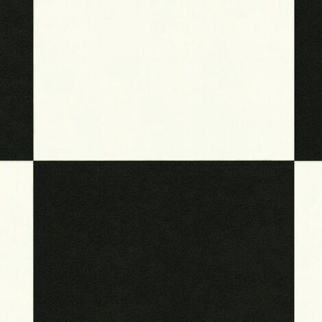 sol pvc best motif carrelage damier blanc noir 2 x 4m