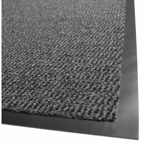 tapis entree accueil anti salissures anthracite 80 x 120 cm
