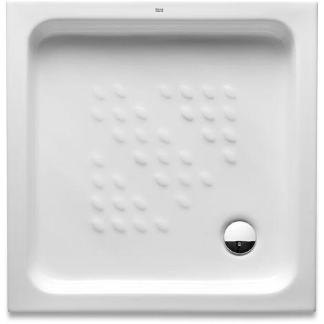 receveur de douche en ceramique a poser italia roca 700x700x80 blanc