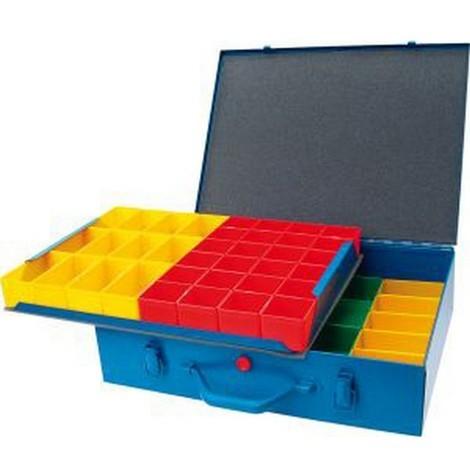 casier de rangement en metal a 48 boites en plastique interchangeables dimensions 440 x 330 x 100 mm