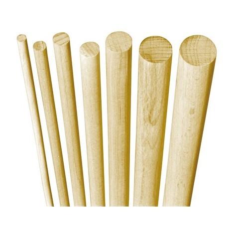 poteau bois hetre 1 metre rond lisse 25 mm par 25