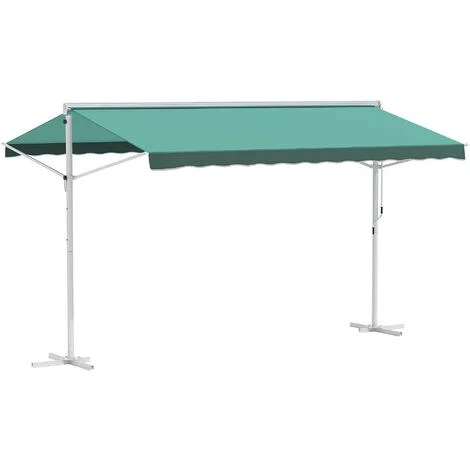 outsunny 3 x 3m freestanding garden awning outdoor patio sun shade canopy