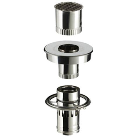 kit adapte aux maisons individuelles equipees d une sortie de toit avec conduit inox galva diametre 230mm