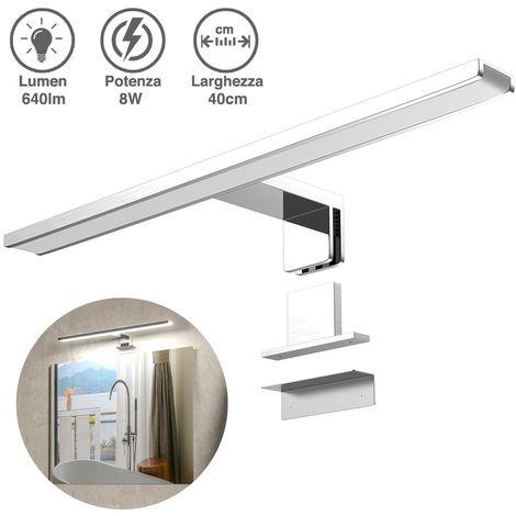 Una selezione di applique e lampade per lo specchio. Lampada Specchio Bagno Applique Parete 40cm Luce Led 8w 6500k 640lm In Alluminio
