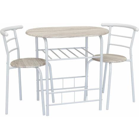 Comode, economiche e disponibili online. Set Tavolo Da Pranzo 2 Sedie Piano E Sedute In Legno Design Moderno 83x53cm
