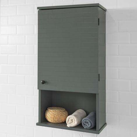 meuble haut armoire suspendue de toilettes placard mural avec porte pour salle de bain armoire a pharmacie avec etageres sobuy bzr25 dg