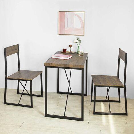 set de 1 table 2 chaises table a manger table de cuisine ensemble table de balcon 2 tabourets avec dossier mobilier de jardin sobuy ogt19 n