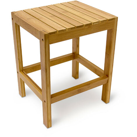 https www manomano fr p relaxdays tabouret en bambou table pour plantes tabouret salle de bain hxlxp 40 x 28 x 32 cm table appoint deco nature 4052025190361 9800890
