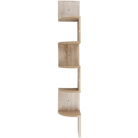 etagere d angle bois etagere murale couleur chene etagere meuble d angle suspendue