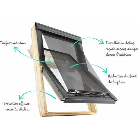 store exterieur pour velux 9 c01 c02 6 c04 ck02 ck04 gris