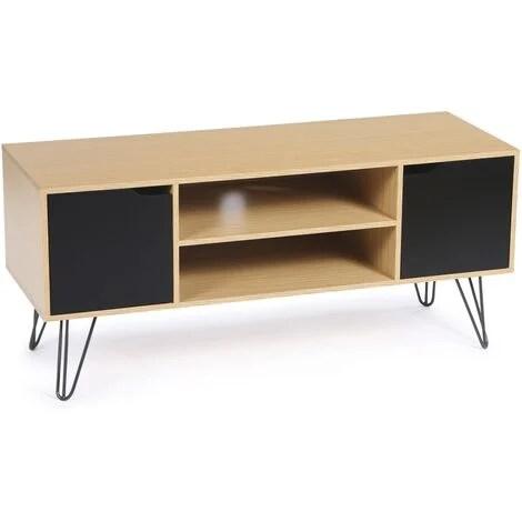 meuble tv vintage noemi bois pied epingle
