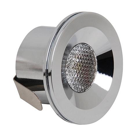 mini spot led encastrable 3w eq 24w 4200k chrome diam 40mm haut 25mm