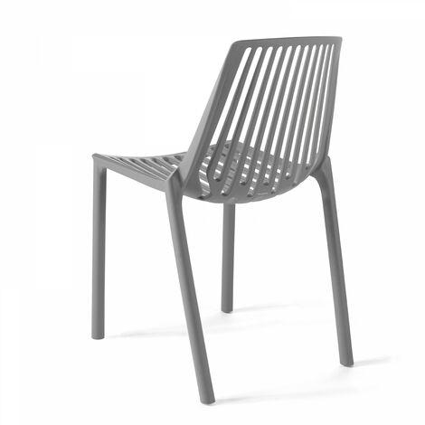 chaise de jardin ajouree en plastique paris gris gris