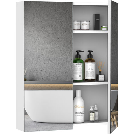 armoire miroir rangement toilette salle