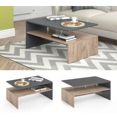 Tavolini in vetro da salotto, un design leggero e raffinato ideale per qualsiasi interno! Tavolino Tavolo Da Salotto Soggiorno Caffe Te Design Moderno Vari Colori Colore Principale Rovere E Antracite