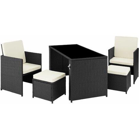 palermo rattan seating set lounge lounge set rattan seating set black