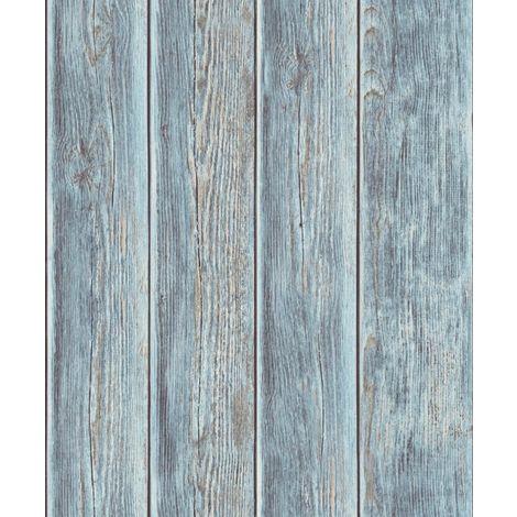 Per un legno di qualità: Ugepa J86801 Carta Da Parati In Tessuto Non Tessuto Effetto Legno Colore Blu