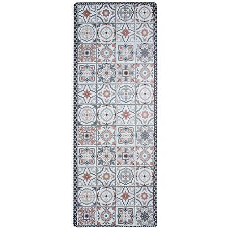 azulejos vinyle tapis de cuisine carreaux ciment terra cotta 45x120 rouge