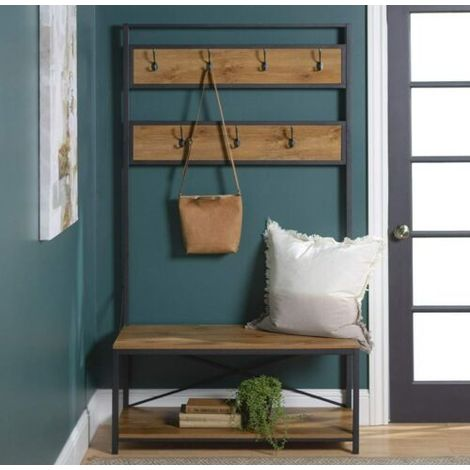 large hallway bench shoe stand hook