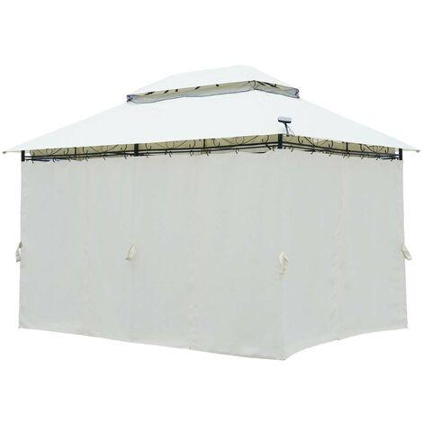 tonnelle 3x4 2 65 h beige impermeable tres stable 100 acier revetu de pa tonnelle easyness 3x4m pavillon de brast