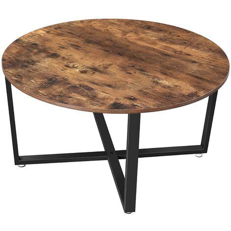 table basse ronde bois massif de